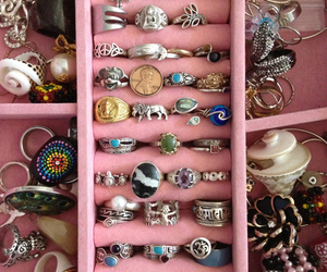 pink, rings, and cute image