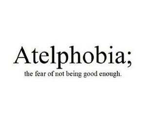atelphobia, quote, and fear image