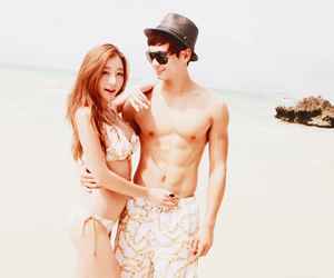 summer, ulzzang, and couple image