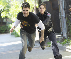 rookie blue, ben bass, and missy pergrym image