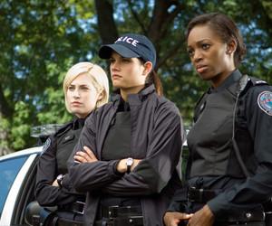 missy peregrym, charlotte sullivan, and rookie blue image