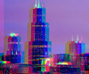 city, colors, and hipster image