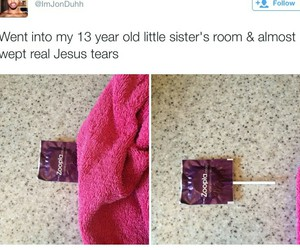 condoms, funny, and siblings image