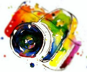 camera, art, and colors image