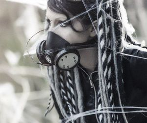 goth, cyber goth, and cyber goth girl image