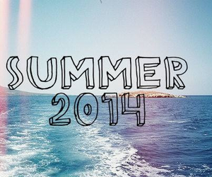 summer, 2014, and beach image