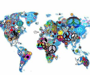 peace, world, and love image