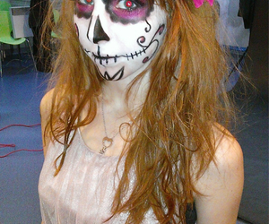 makeup, skull, and sugarskull image