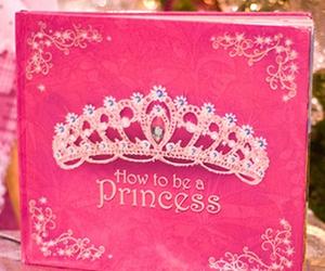 princess, pink, and book image