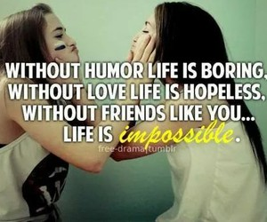 friends, love, and life image