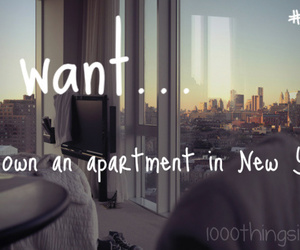 apartment, dreams, and new york city image