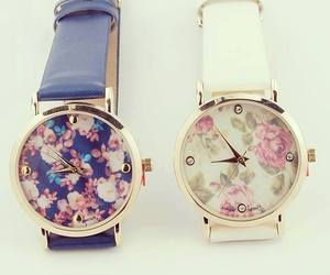watch, blue, and white image