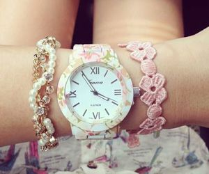 watch, girly, and pink image