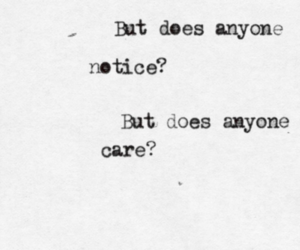 care, quote, and sad image