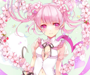 anime, pink, and kawaii image