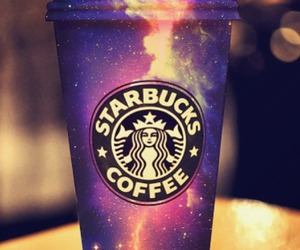 coffee, galaxies, and starbuck image