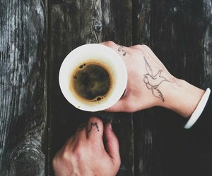 coffee, tattoo, and hipster image