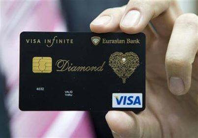 diamond, visa, and card image
