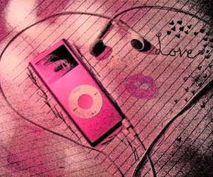 ipod, music, and love image