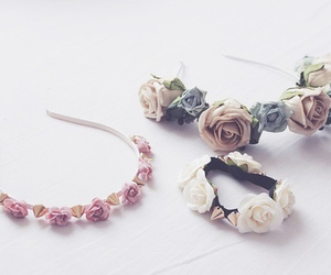 flowers, accessories, and rose image