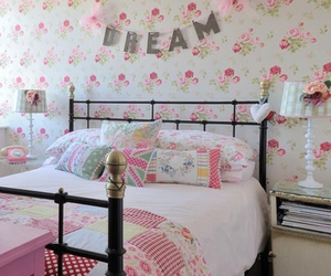 Dream, bedroom, and pink image