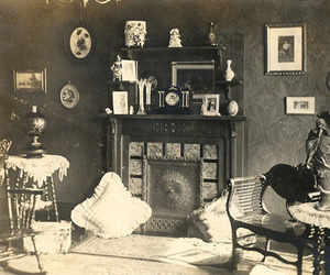1800s, black and white, and interior image