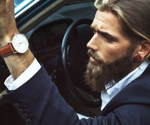 beard, handsome, and male model image