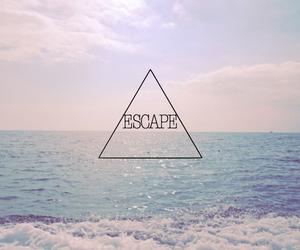 escape, sea, and summer image