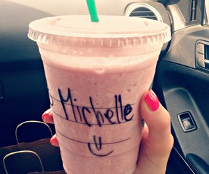 frappucino, love, and in car image