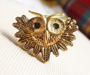 antique, jewelry, and owl image