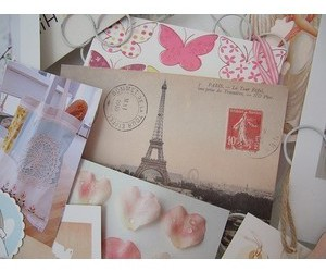 Letter, paris, and tower image