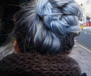 blue, hipster, and braid image