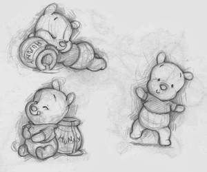 happy, pooh, and honey image