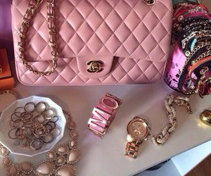 pink, chanel, and style image