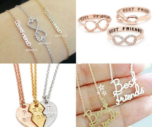 jewels, best friends necklace, and best friends ring image