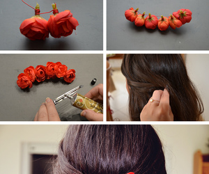 diy, hair, and flowers image