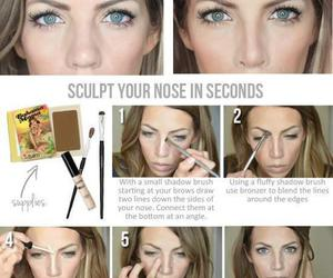 makeup, nose, and beauty image