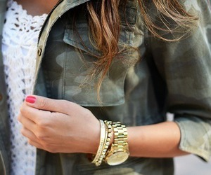 fashion and gold watch image