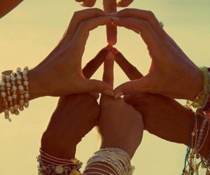 best friends, peace, and bracelets image