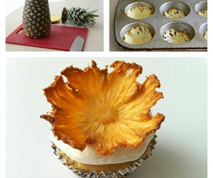 ananas, cupcake, and diy image