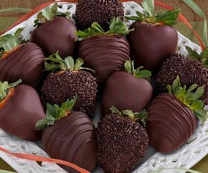 chocolate and strawberries image
