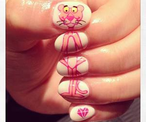 nails, pink, and pink panther image