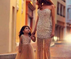 dress, daughter, and mom image