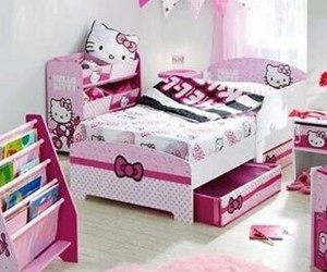 hello kitty, room, and pink image