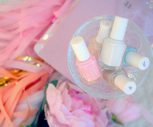 makeup, nail polish, and essie image