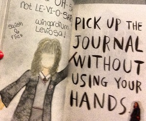 harry potter, wreck this journal, and hermione image