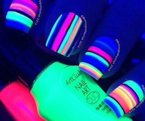 nails, neon, and lines image