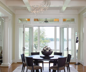 dining room, simple design, and traditional dining room image