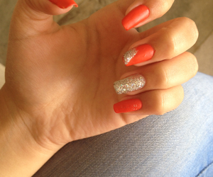 long, nails, and red image
