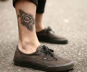 tattoo, vans, and rose image